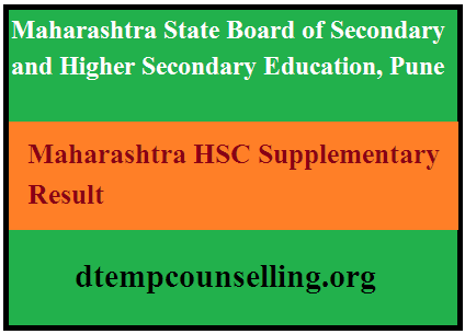 Maharashtra HSC Supplementary Result 2020
