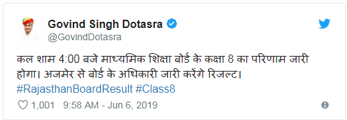 8th Class Result Date