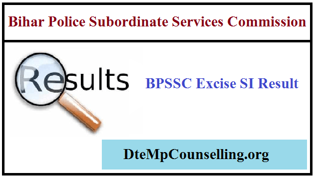 BPSSC Excise Sub Inspector Result 2019