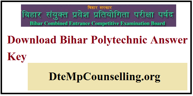 Bihar Polytechnic Answer Key 2019