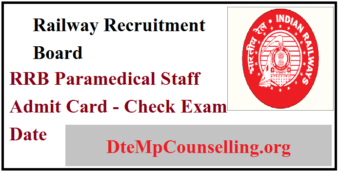RRB Paramedical Staff Admit Card 2019