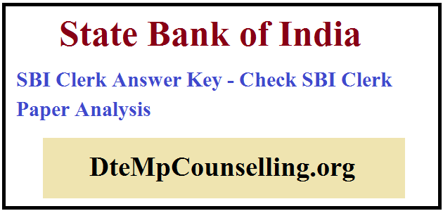 SBI Clerk Answer Key 2019