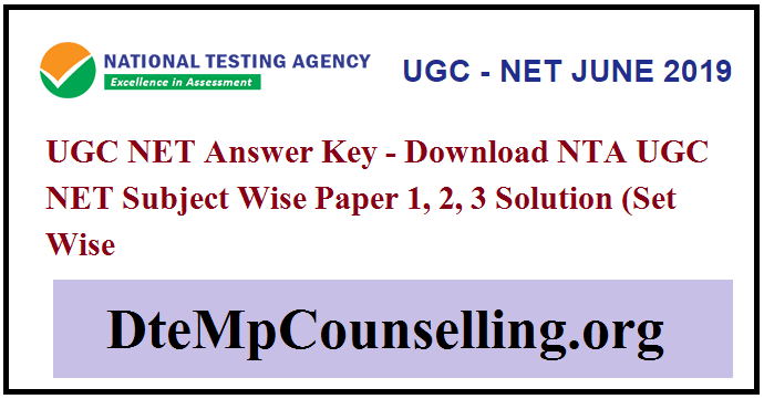 UGC NET Answer Key 2019 (Released) Subject Wise Paper Solution