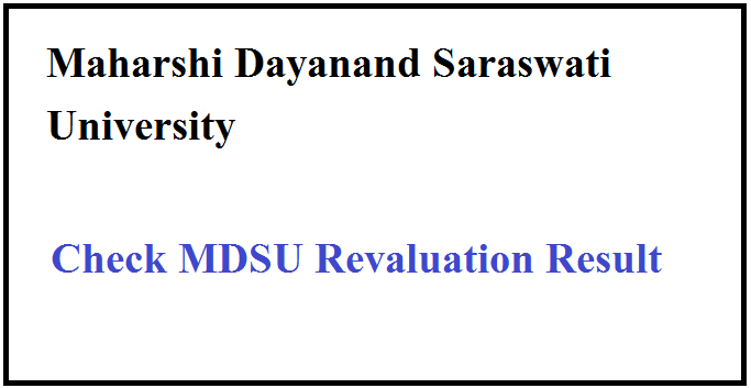 MDSU Revaluation Result 2019