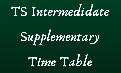ts intermediate supplementary time table 2020