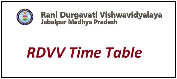 RDVV Time Table 2021